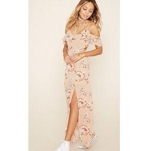 Forever 21 off the shoulder Floral Maxi Dress